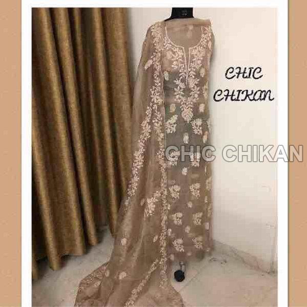 Chikankari Embroidered Fabrics 01