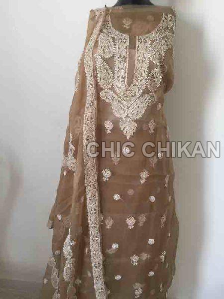 Chikankari Embroidered Fabrics 02