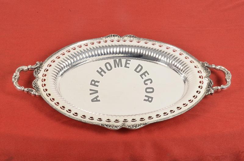AVR-3001 Silver Oval Tray