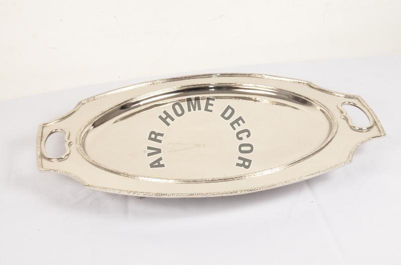 AVR-3011 Silver Oval Tray