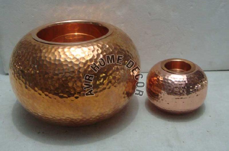 Copper Tea Light Candle Holder