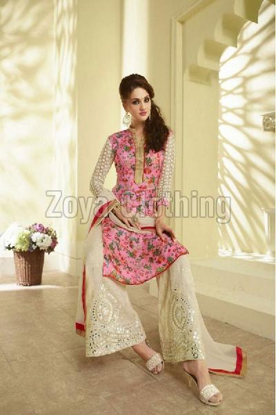Ladies Bhagalpuri Party Wear Palazzo Suits