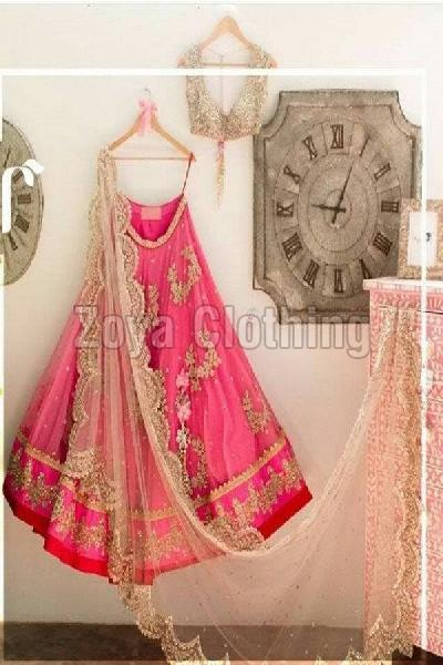 Designer Pink Bridal Lehenga Choli