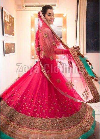 Poly Silk Light Pink Lehenga Choli