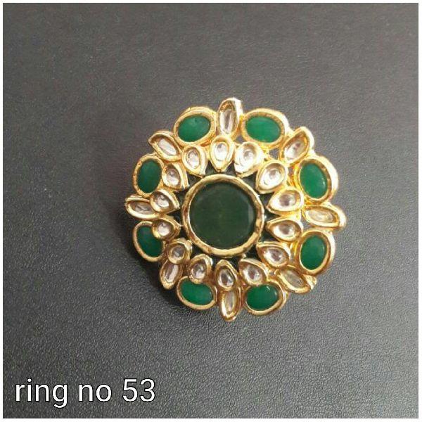 Diya Green Kundan Ring SK 009