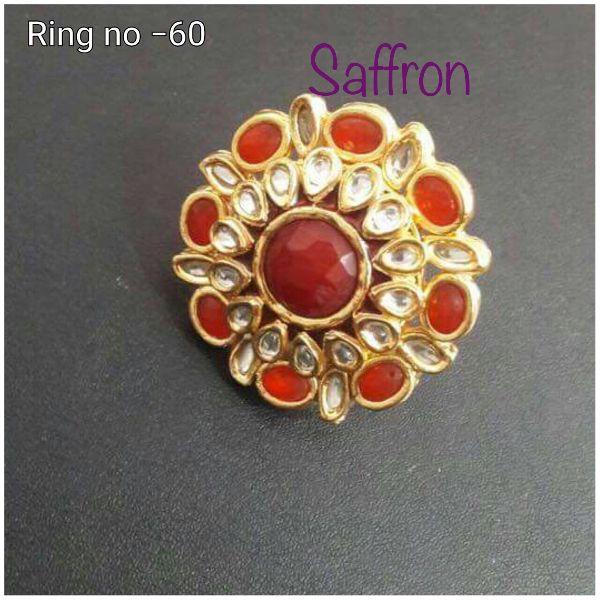 Diya Red Kundan Ring SK 069