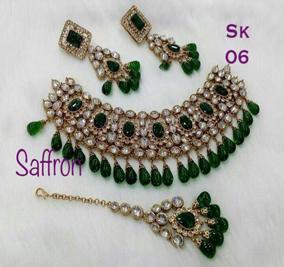 Green Polki Set SK0006