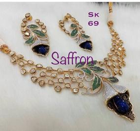 Jelly blue CZ Necklace Set SK0069