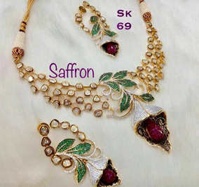 Jelly Pink CZ Necklace SK0069