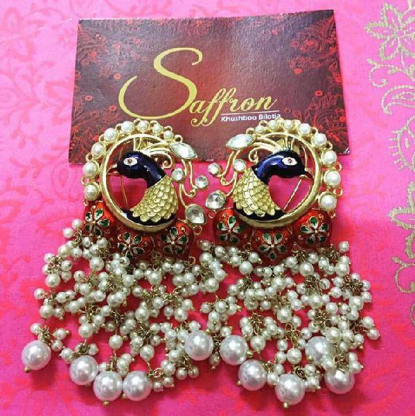 Peacock Earrings SK 0091