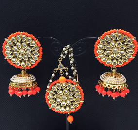 Ridhima Orange Tikka Set SK 0081