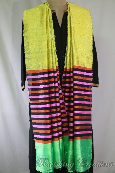 Dupion Silk Multi Color Dupattas 01