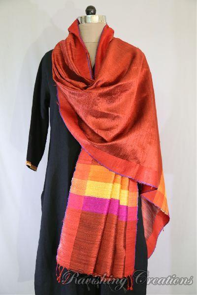 Dupion Silk Multi Color Dupattas 04