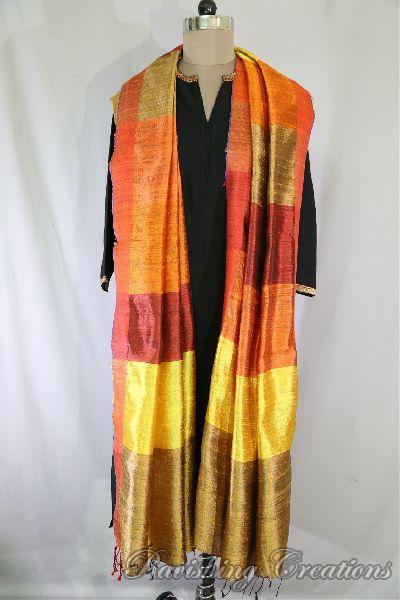 Dupion Silk Multi Color Dupattas 05