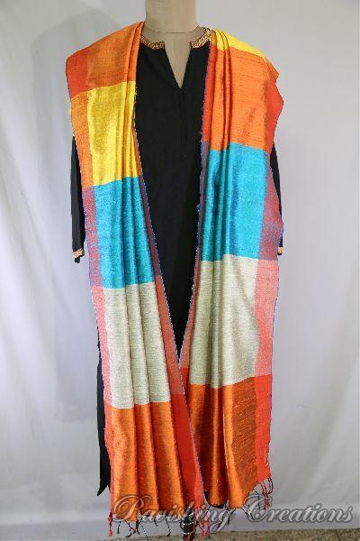 Dupion Silk Multi Color Dupattas 10