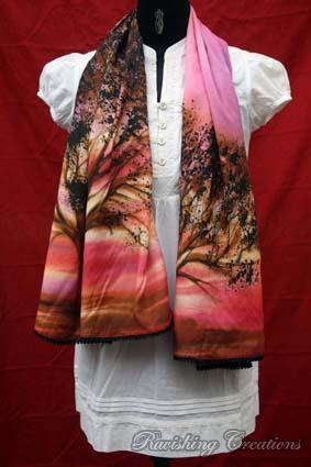 Hand Painted Stole 04