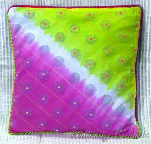Shibori Cotton Cushion Cover 02