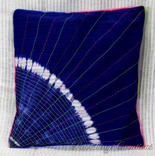 Shibori Cotton Cushion Cover 03