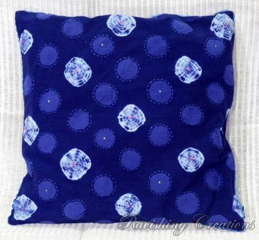 Shibori Cotton Cushion Cover 04