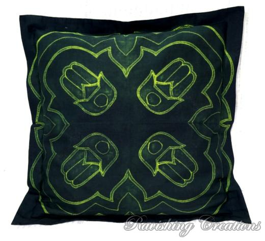 Shibori Cotton Cushion Cover 05