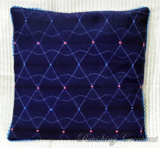 Shibori Cotton Cushion Cover 06