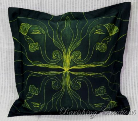 Shibori Cotton Cushion Cover 08