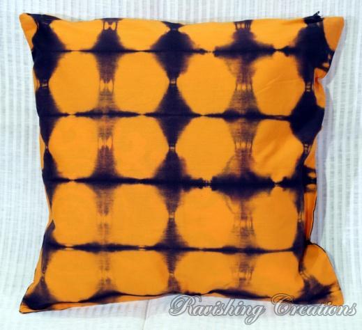 Shibori Cotton Cushion Cover 09