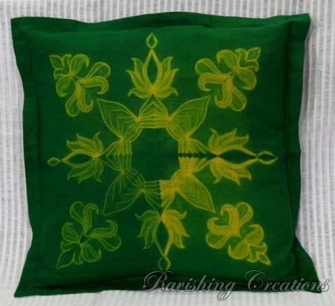 Shibori Cotton Cushion Cover 10