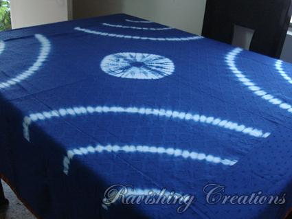 Shibori Cotton Tablecloth 05