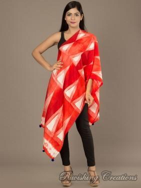 Shibori Silk Stole 04