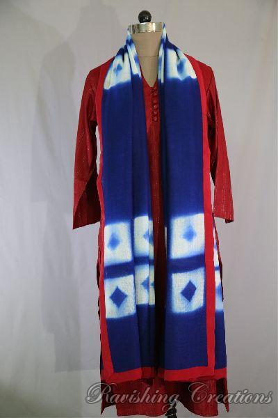 Shibori Woolen Shawls 06
