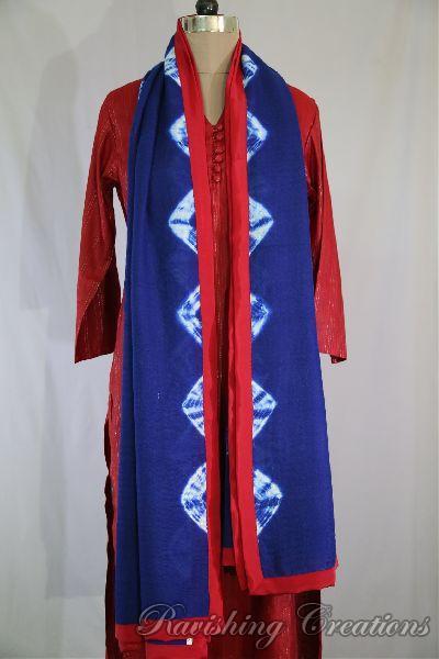 Shibori Woolen Shawls 07