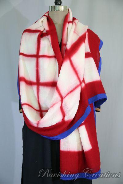 Shibori Woolen Shawls 18