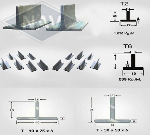 40x40x5 mm Mild Steel Tee Angle