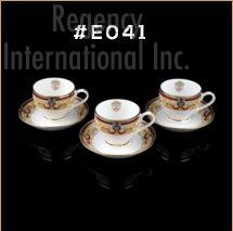 Gold Chain Gold Line Series Cup & Saucer Set 01
