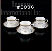 Gold Chain Gold Line Series Cup & Saucer Set 02