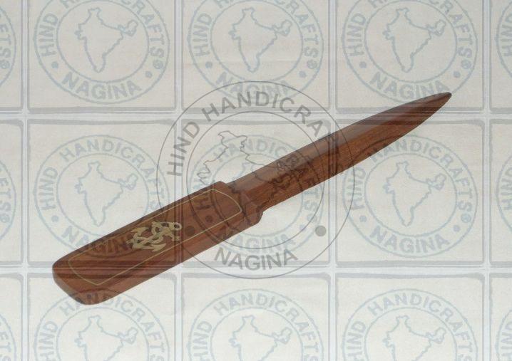 HHC104 Wood Brass Paper Knife