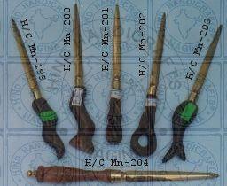 HHC106 Wood Brass Paper Knife