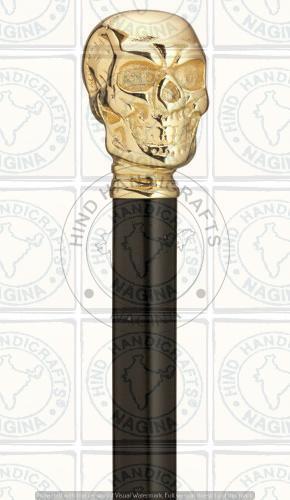 HHC115 Wood Brass Walking Stick
