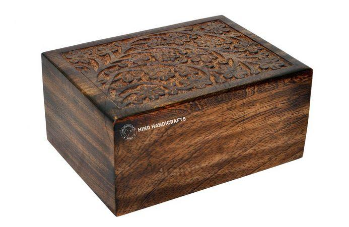 HHC129 Wooden Ash Urn