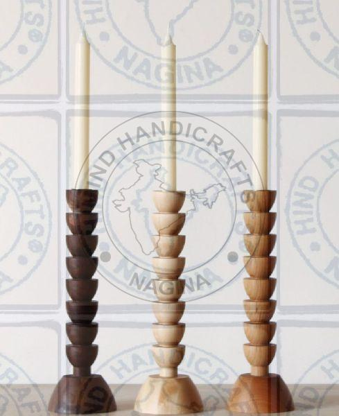 HHC155 Wooden Candle Holder