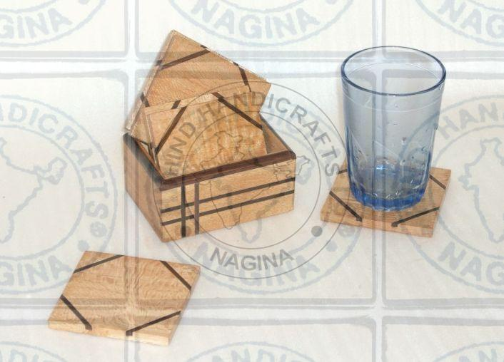 HHC165 Wooden Coaster Set