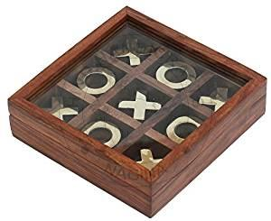 HHC197 Wooden Tic Tac Toe Game