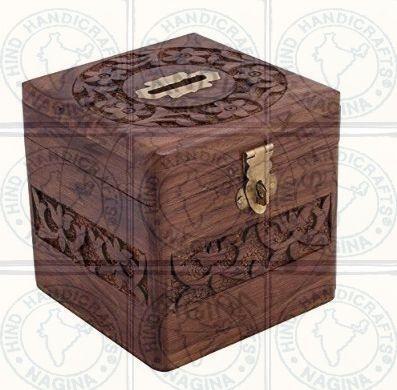 HHC226 Wooden Money Bank