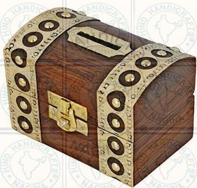 HHC228 Wooden Money Bank