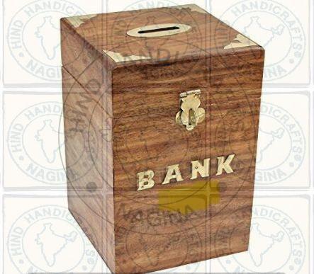 HHC231 Wooden Money Bank