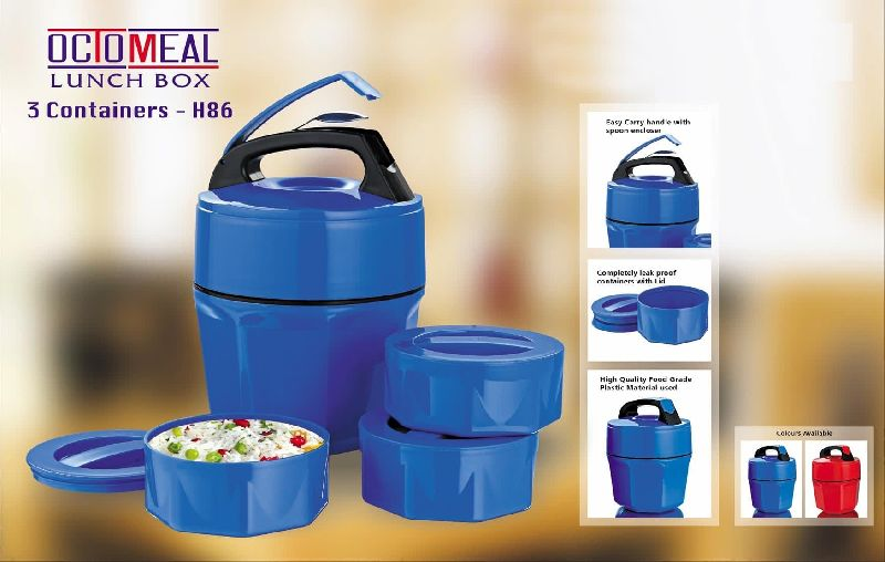 H86 – Octomeal Lunch Box – 3 Containers (Plastic)