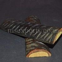 Dyed Stabilized Amber Kudoo Jigged Bone Scale
