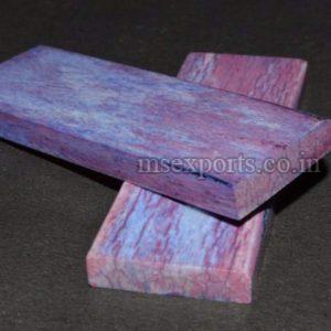 Dyed Stabilized Purple Blue Shade Bone Flat