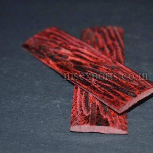 Dyed Stabilized Stag Bone Red (jigged) Scale